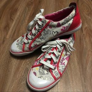 Coach Barrett Poppy Graffiti Heart Tennis Shoes
